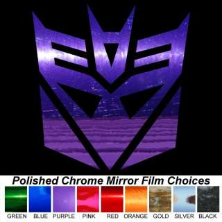 DECEPTICON 18 LARGE Chrome Auto Window Stickers Decals
