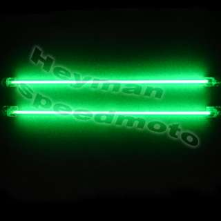 2x 12 GREEN EXTERIOR&INTERIOR CAR AUTO NEON LIGHT 314# |