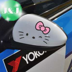 2x Hello Kitty Car Rear View Mirror Decal Stickers KR2