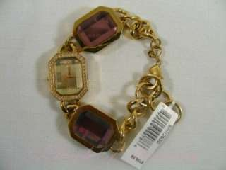 Baby Phat Charm Bracelet Crystal Gold Dress Watch BPH126GD