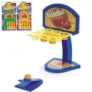 TABLE TOP BASKETBALL SET. Includes scoreboard, ball launcher and balls