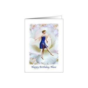 Birthday, Niece, Ballet Dancer, Roses Card: Health