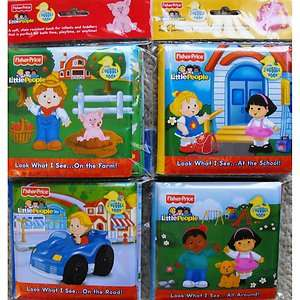 Fisher Price Little People Bath Time Bubble Books (Set of 4) {nip