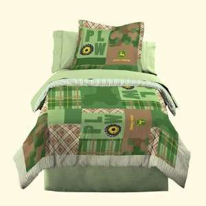 John Deere Bedding Boys Quilt and Sham Set, Full/Queen