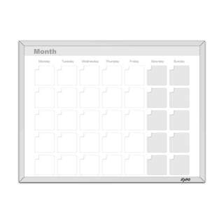 11 x 14 Magnetic Dry Erase Calendar Whiteboard 071641704732