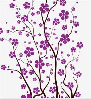 Nursery Decal Japanese Magnolia Cherry Blossom Flowers #1121