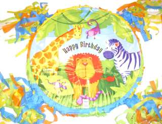 Zoo Jungle Safari Party Pinata Custom NeW