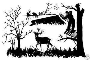 Deer Bow Hunting Scenery Buck Decal Sticker 12 x 18 DH 8