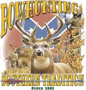 Dixie Outfitters Tshirt: Bow Hunting Southern Tradition Deer Hunter