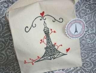 con el bolso creciente de almuerzo de París de corazones de amor