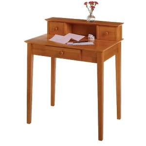 Pine Solid Wood Hutch Writing Desk for Small Spaces 21713993335