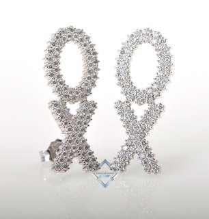 Roberto Coin 18K White Gold Diamond XO Earrings