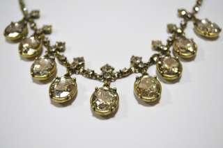Jewelry Fashion Party Teardrop multi diamond Crystal necklace