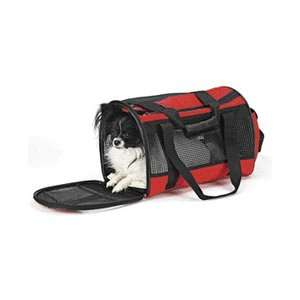Ethical Pet Travel Gear Front Pouch Pet Carrier in Red Dogs