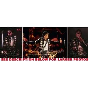 MICHAEL JACKSON DANGEROUS TOUR SHOW (3) RARE 8x10 FINE ART
