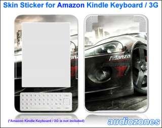 Vinyl Skin Sticker Decal Racing Sports Car for  Kindle Keyboard