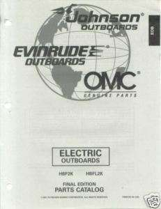 1997 Johnson Evinrude electric Outboard Parts Catalog