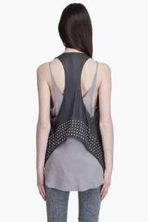 Haute Hippie Embellished Leather Vest for men