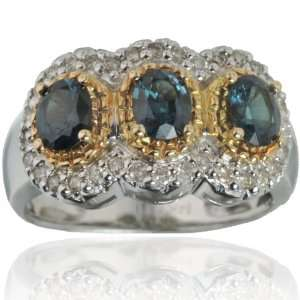Michael Valitutti 14K White Gold Tanzanian Color Changing