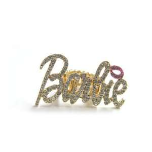 Nicki Minaj Barbie RING Gold/Clear