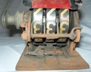 Vintage Gas Fuel Oil Kerosene Pump Flow Meter Gauge Antique