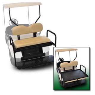 Rear Flip Seat EZ GO RXV (Tan in color) Golf Cart 2 n 1 Flip Flop