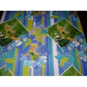 TINKERBELL FAIRY Gift Wrap Wrapping Paper & Bows   Birthday, Any