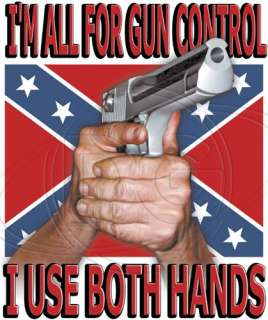 Dixie Outfitters Tshirt: Gun Control Confederate Flag Redneck Rebel