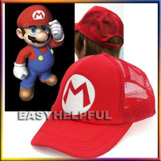 New Super Mario Bros Hat Baseball Cap M Red for Kid & Boy Xmas Gift