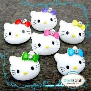 pcs) Assorted Hello Kitty Bow Resin Flatbacks Cabochon Scrapbook Craft