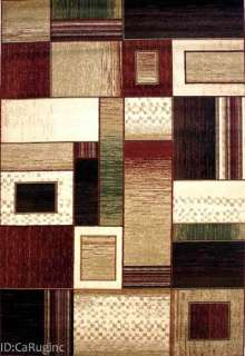 5x8 Area Rug Abstract Contemporary Modern Design Squares New