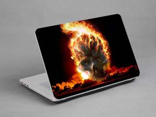 LAPTOP NOTEBOOK SKIN STICKER COVER DECAL CAR FLAME SKULL DELL TOSHIBA