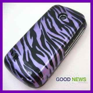 LG Cosmos Touch VN270   Purple Black Zebra Hard Case Phone Cover