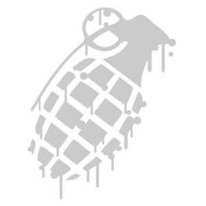 Grenade CHROME Drip Splatter Snowboard Vinyl Decal Sticker