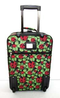 3Piece Luggage Set Travel Bag Rolling Wheel Red Ladybug