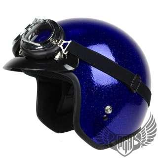 Vintage Style Chopper cafe racer Bobber Motorcycle Helmet Goggle ~ L