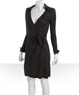 Diane Von Furstenberg sky dot print silk jersey Jeannewrap dress
