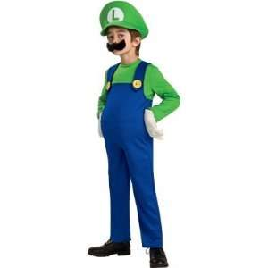 Rubies Costumes 186160 Super Mario Bros.  Luigi Deluxe Toddler Child