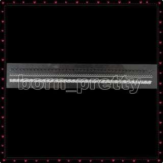 Elegant White&Black Lace Style Sticker(1pc) Nail Art