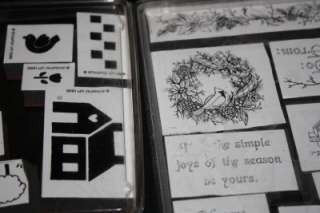 50 Stampin Up Rubber Stamp Lot Baskets Quilt Sheep Apple friendship