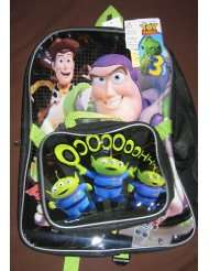 Toy Story 3 Buzz Woody Aliens School Backpack Matching Lunch Bag