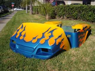 1994 Up CUSTOM Paint Front + Rear Body COWL golf cart Yamaha Club Car