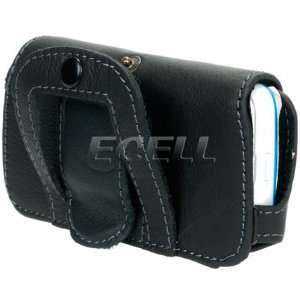 BLACK LEATHER CASE POUCH & BELT CLIP FOR NOKIA 5530 Electronics