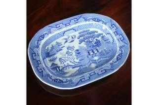 Victorian Antique Staffordshire Blue Willow Platter