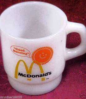 Vintage Fire King McDonalds Good Morning Coffee Mug