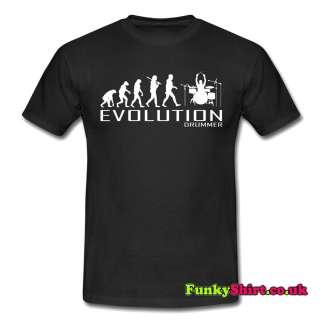 DRUMMER MUSIC APE OF EVOLUTION T SHIRT TSHIRT MENS WOMENS BOYS GIRLS