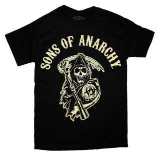 Sons Of Anarchy Logo Grim Reaper TV Show T Shirt Tee