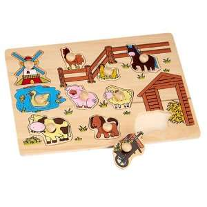 Wooden farm animals Jigsaw Puzzle Kids Learning Kit Toys
