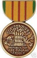 VIETNAM WAR SERVICE MEDAL MILITARY LAPEL HAT PIN