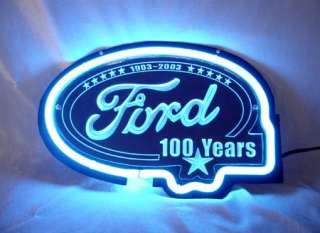 FORD American Auto 100 Years Neon Light Sign sd167